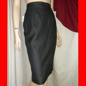 New CHARCOAL SILK WEAVE SKIRT by Ann May Plus 18